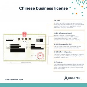 Chinese business license 2